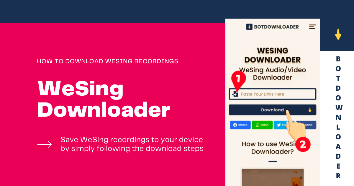 How to download WeSing Audio / video